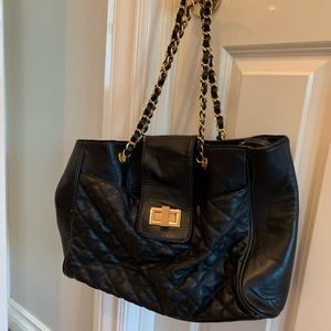 Aldo black quilted Purse